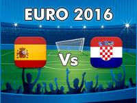 Croatia v Spain Euro 2016