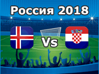 Iceland v Croatia- World Cup 2018
