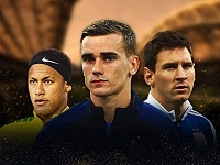 World Cup 2018 Golden Boot Odds - Neymar - Griezmann - Messi © Gepa-pictures